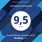 Booking.com Bewertung 9,5